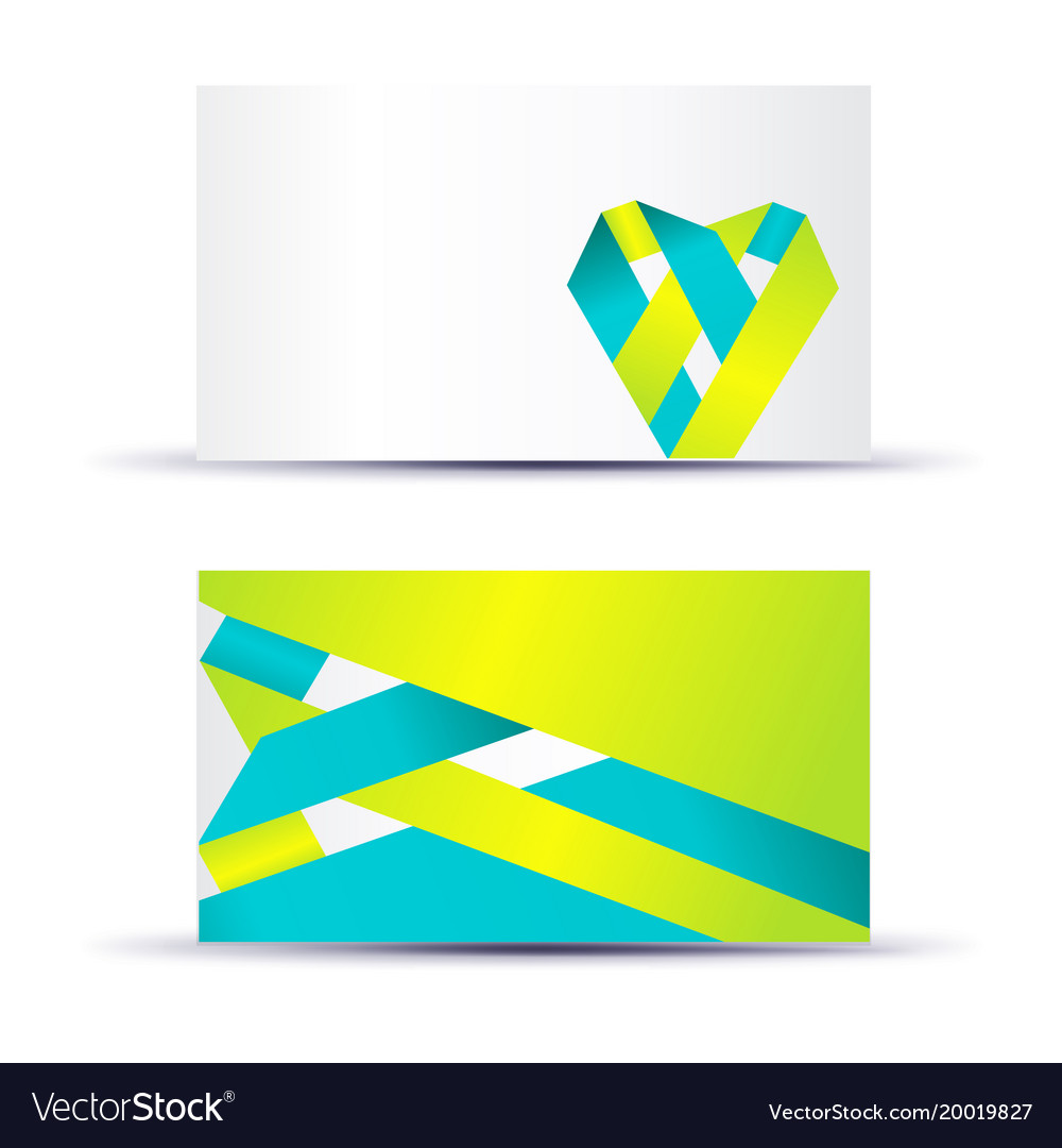 Abstract blank name card template for business vector image colourmoves