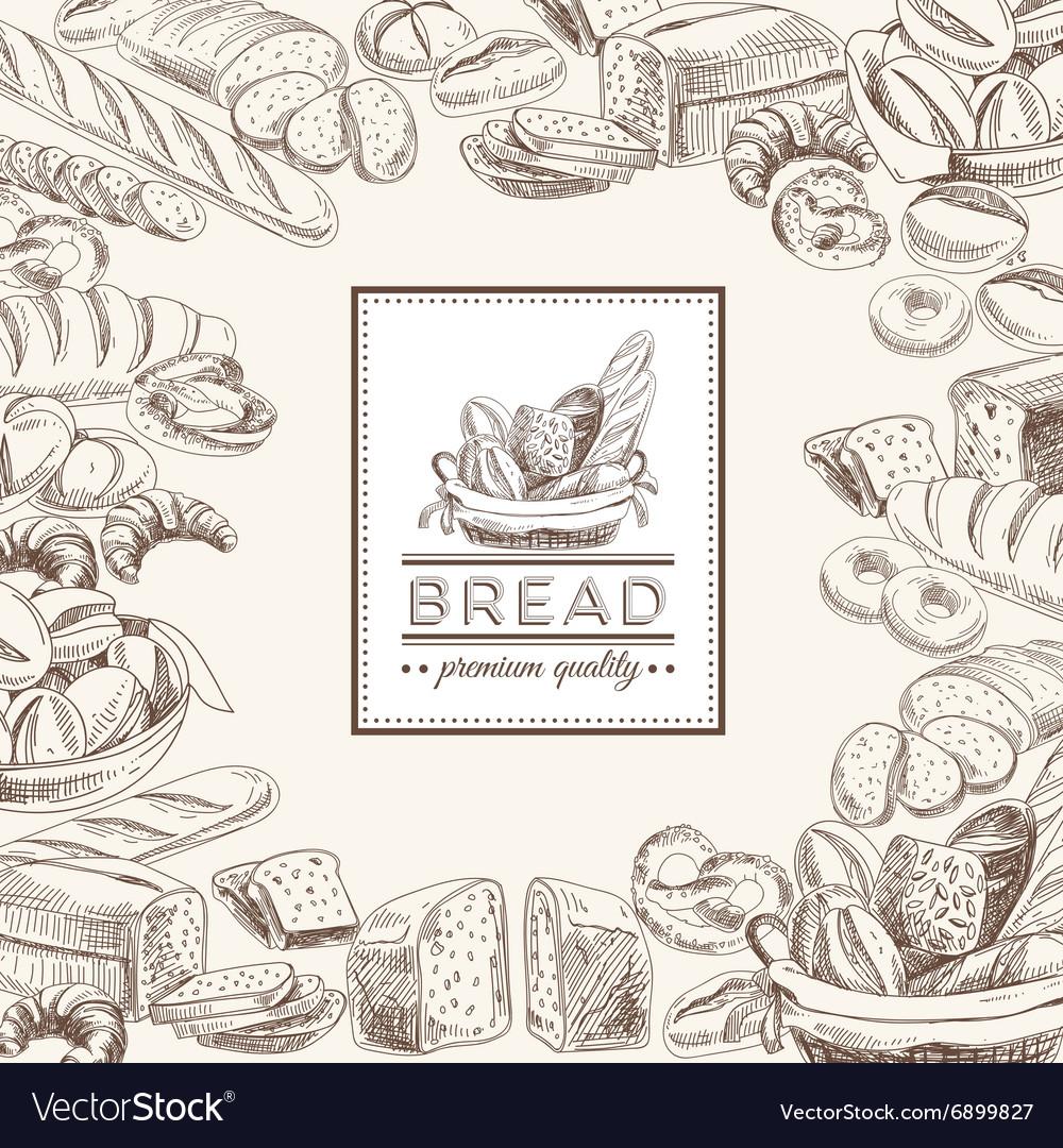 Bakery retro background vector image