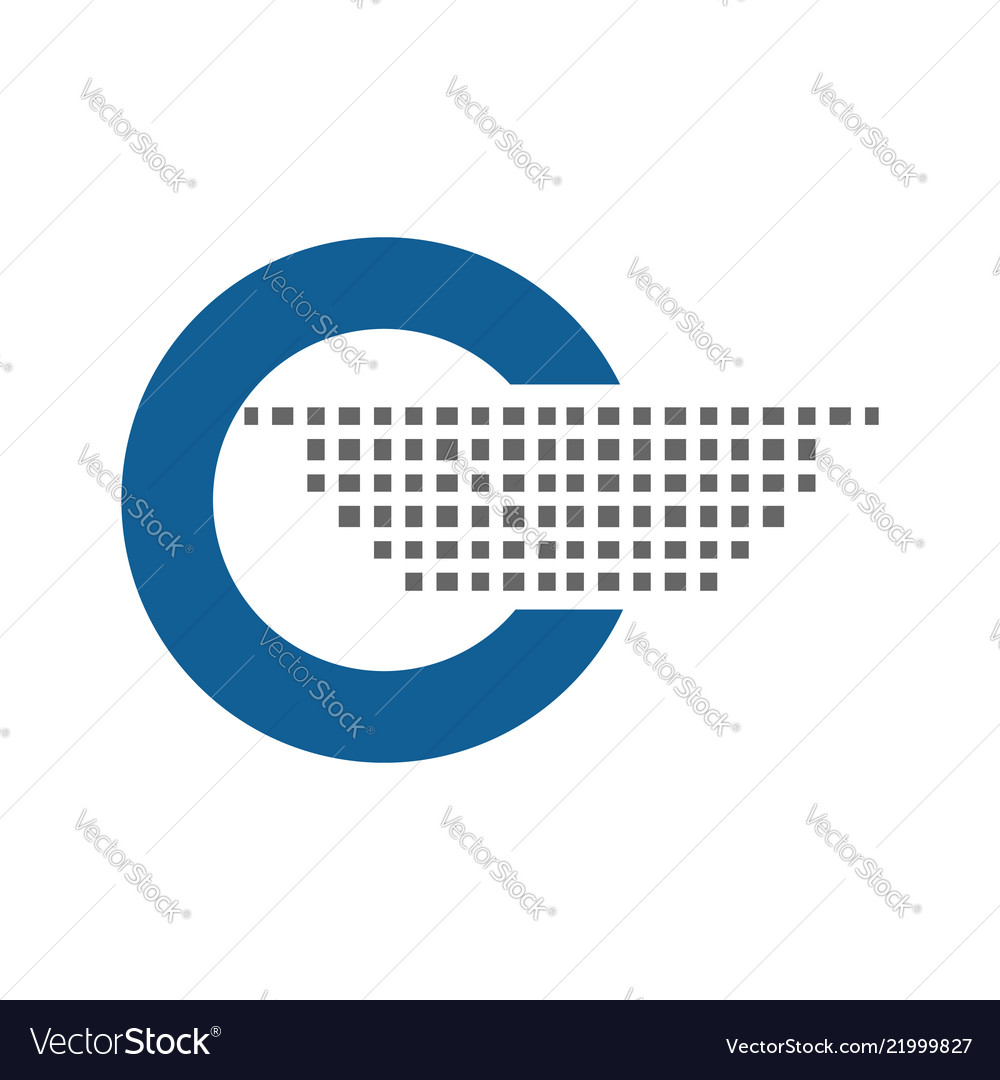 Blue round circle logo icon