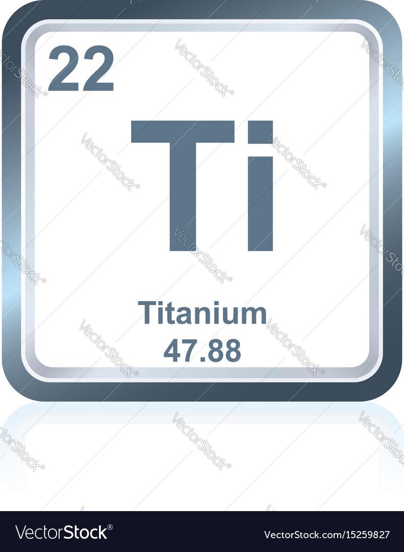 Chemical Element Titanium From The Periodic Table Vector Image