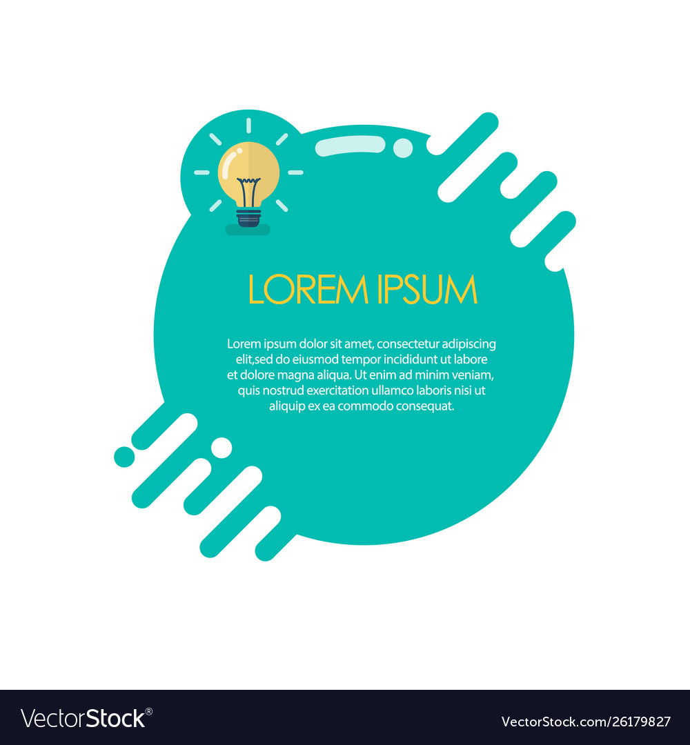 Infographic template with lightbulb idea