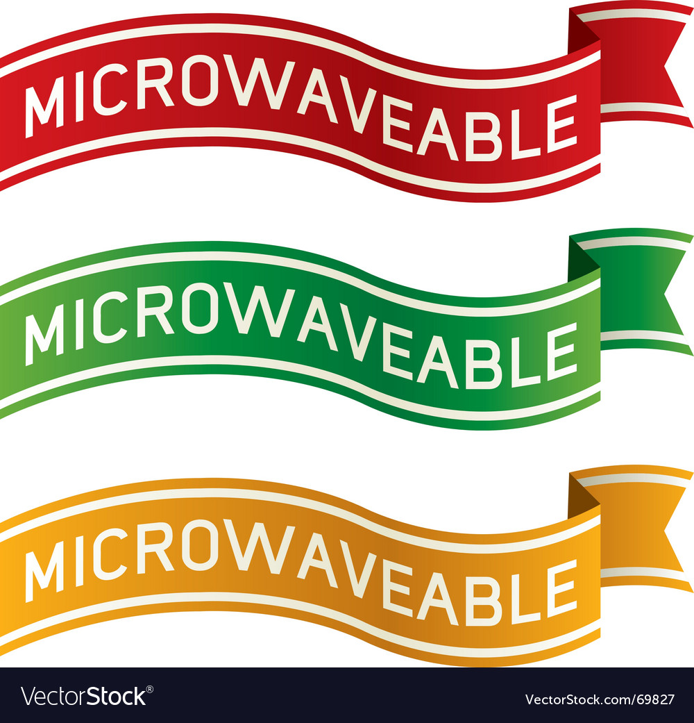 Microwaveable package label vector image
