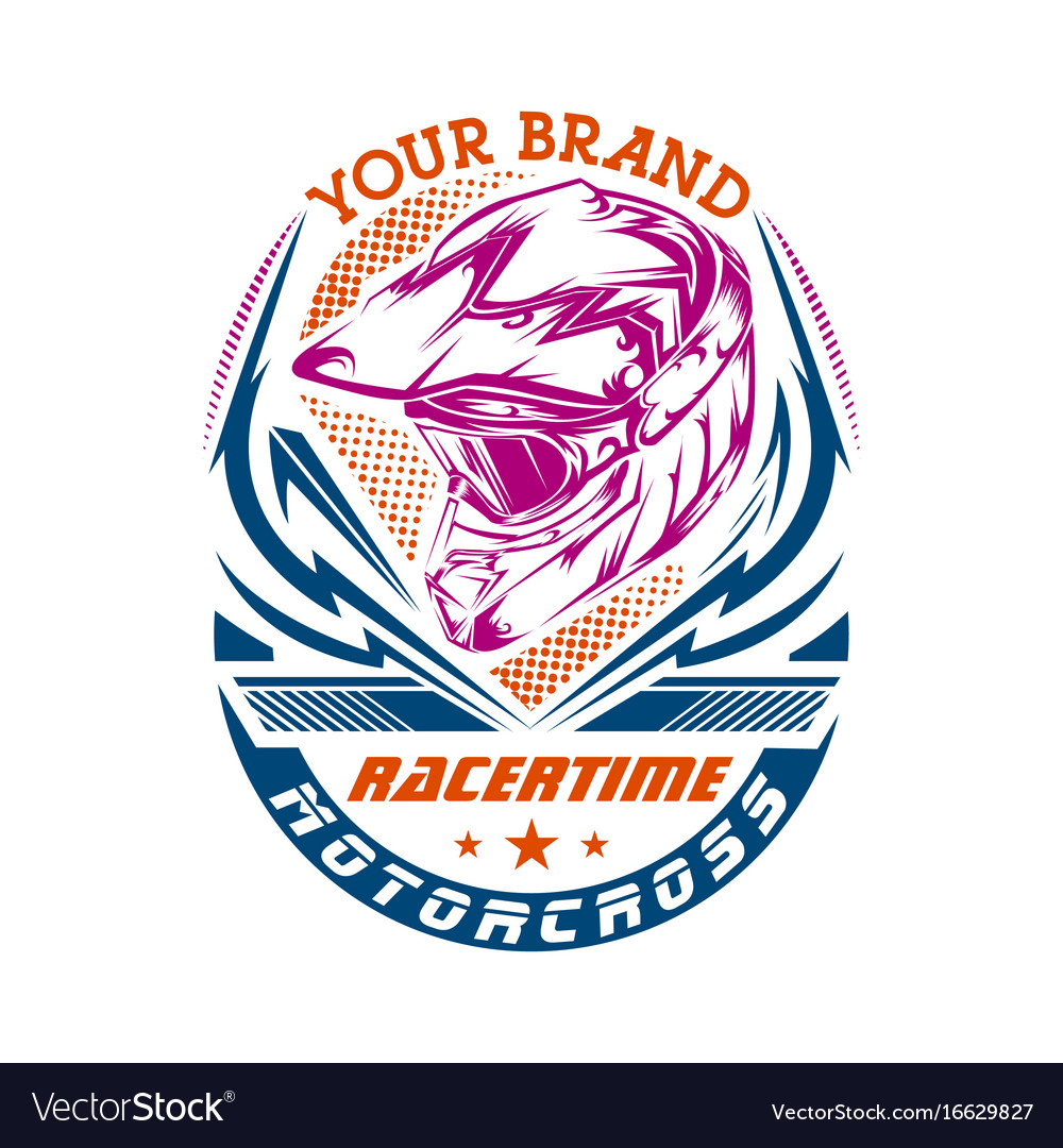 Motocross design for t-shirt vector image
