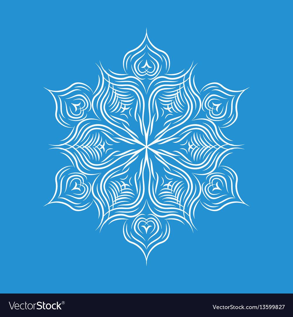 Patterned snowflake icon simple style