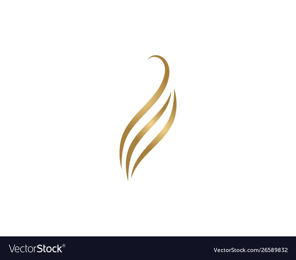 Hair wave logo