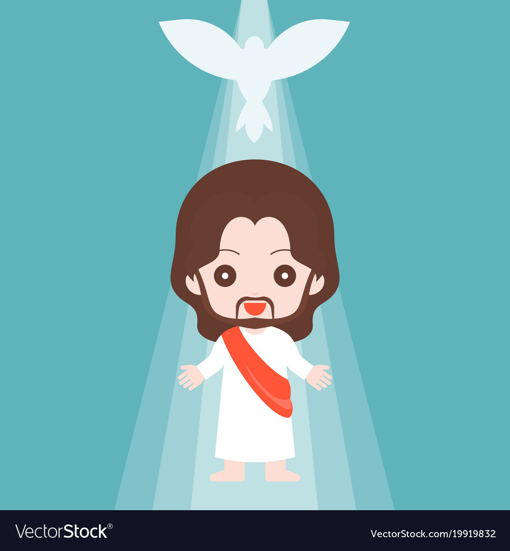 Jesus christ with holy spirit