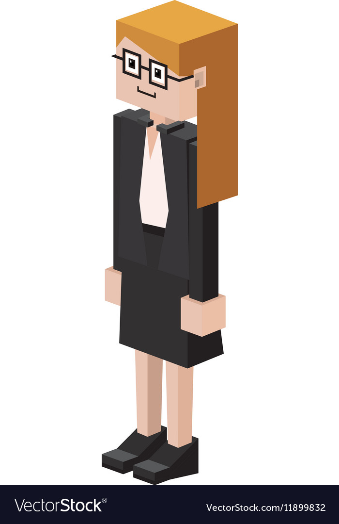 Lego female judge with glasses vector image