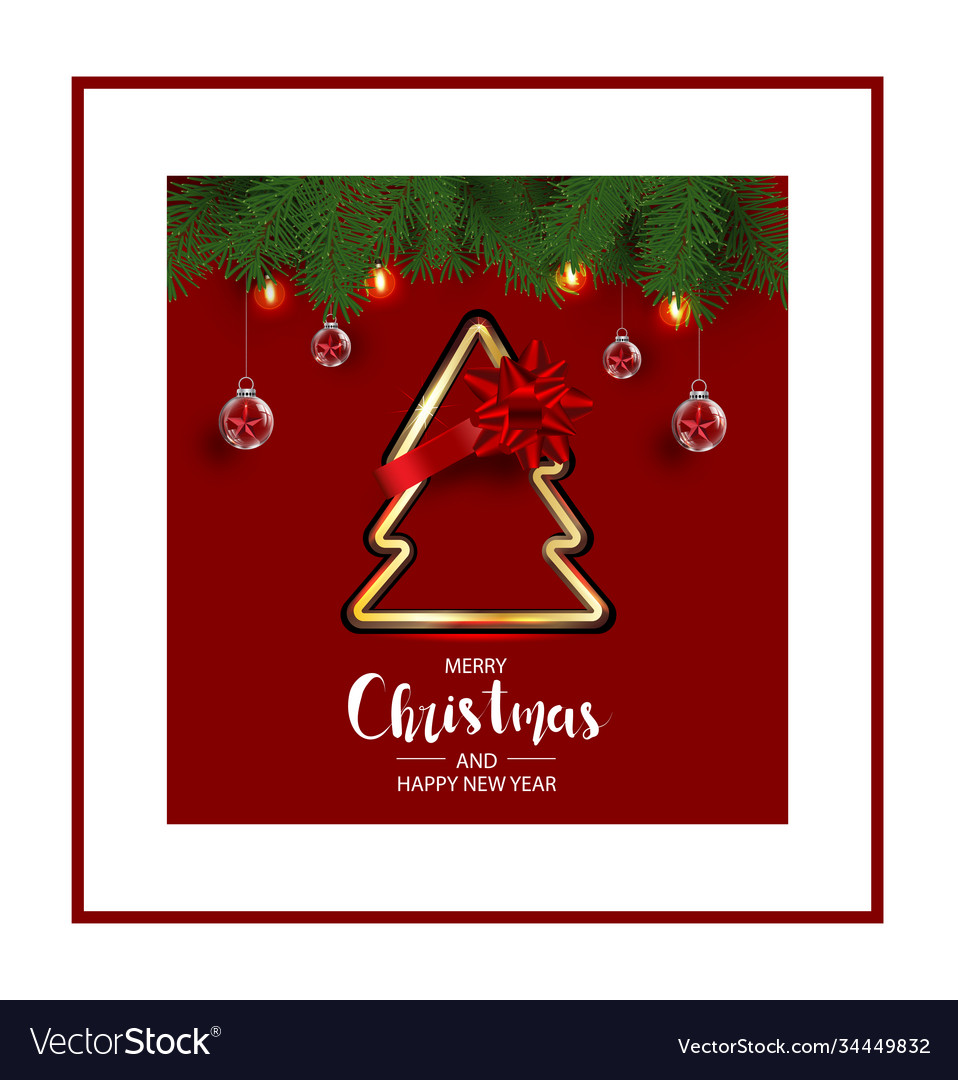 Modern holidays christmas background banner with