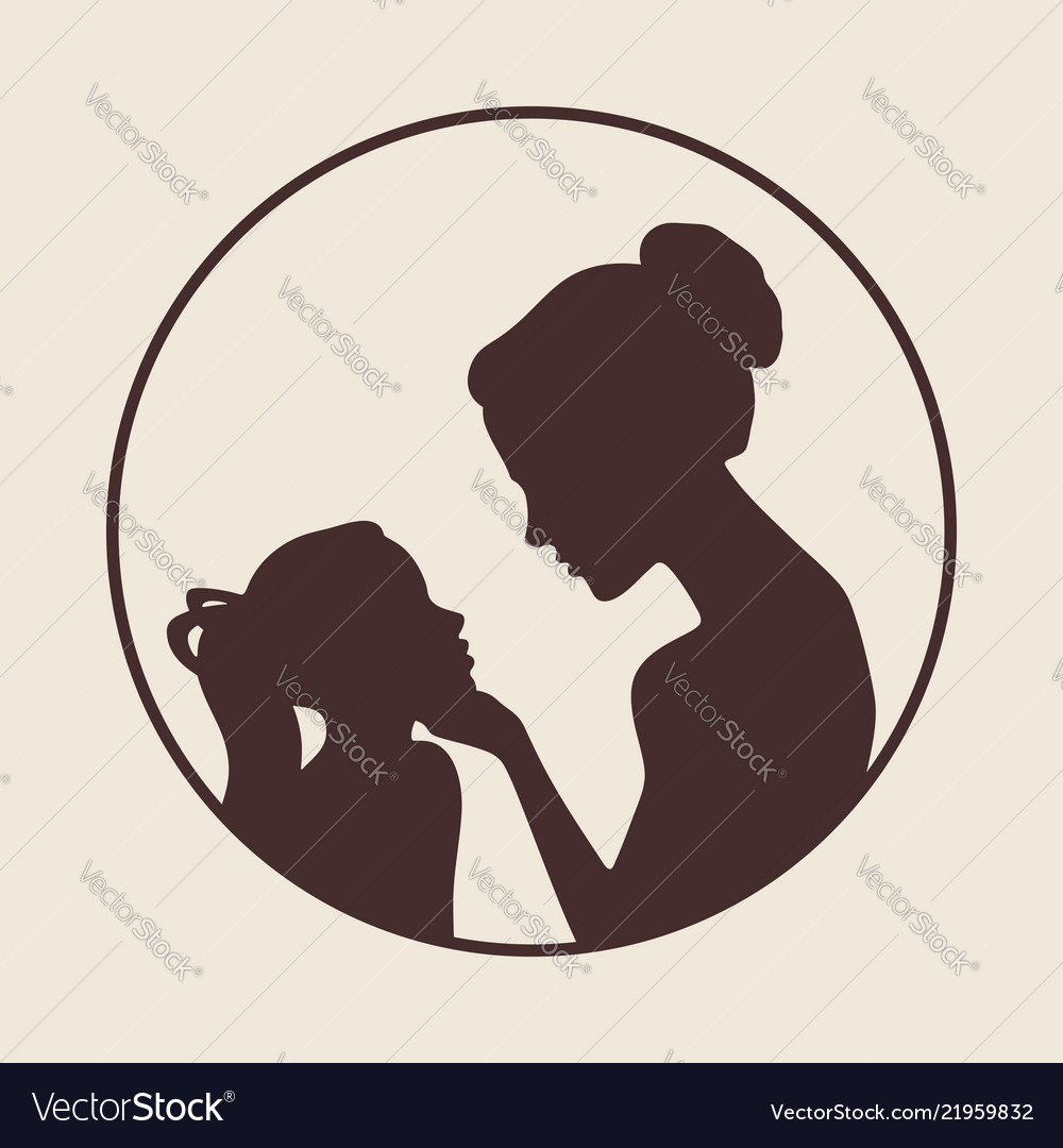 Mother and daughter silhouettes best mom ever