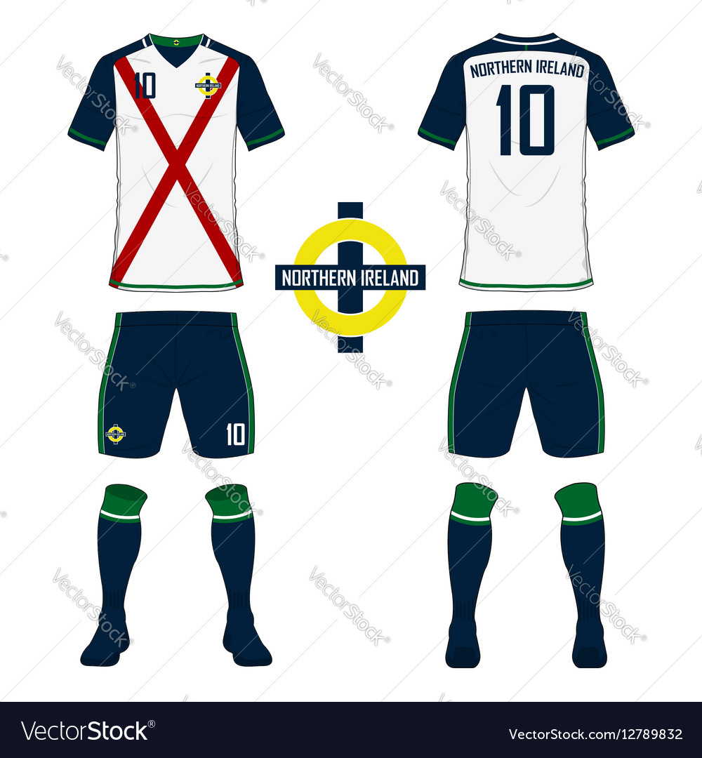 Northern Ireland soccer kit football jersey Vector Image 1adfd5a4b