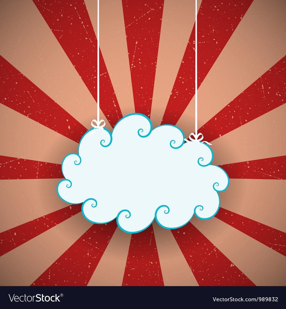 Retro Cloud vector image