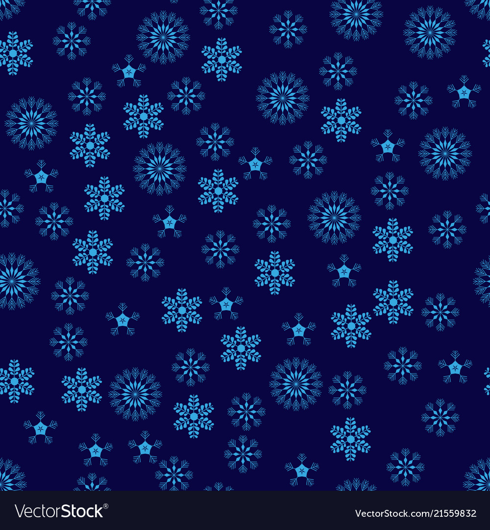 Snowflakes seamless pattern blue snowflake