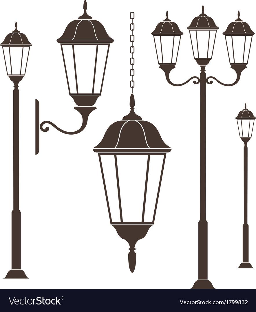 Street Light Royalty Free Vector Image - VectorStock for modern street lamp vector  143gtk