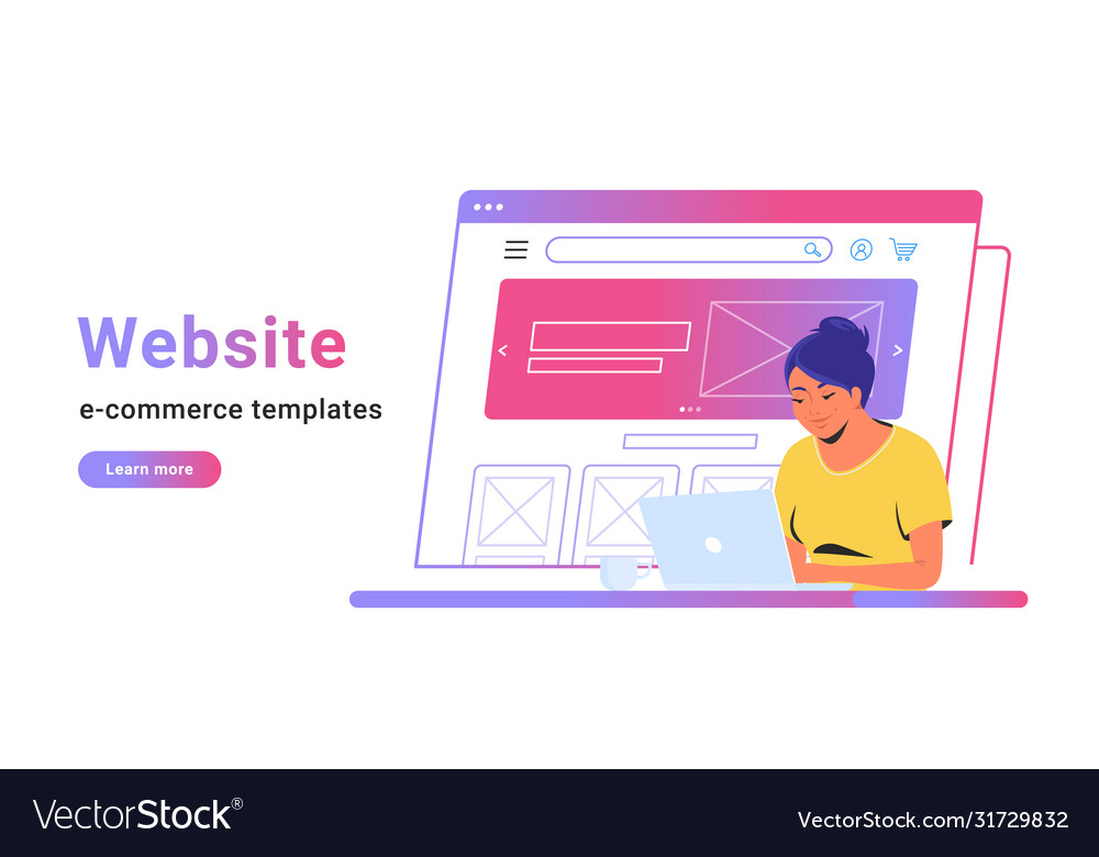Website e-commerce template to create electronic