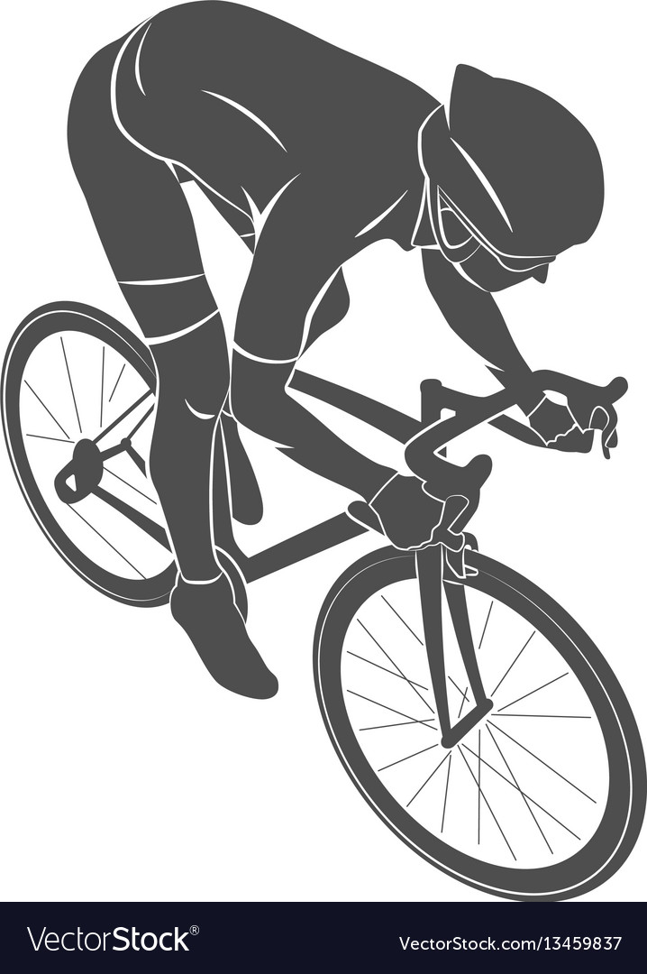 Athlete bike cyclist vector image