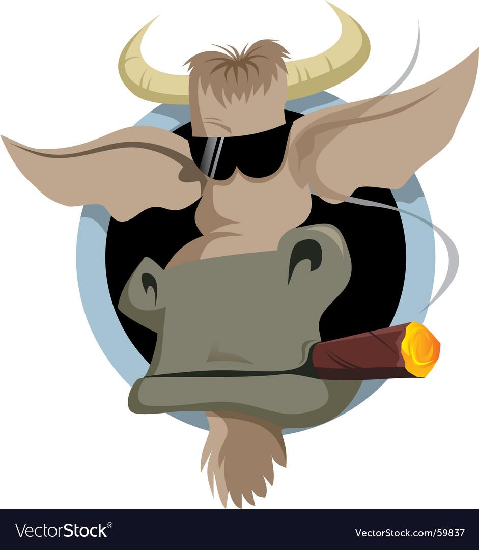 Bull and cigar