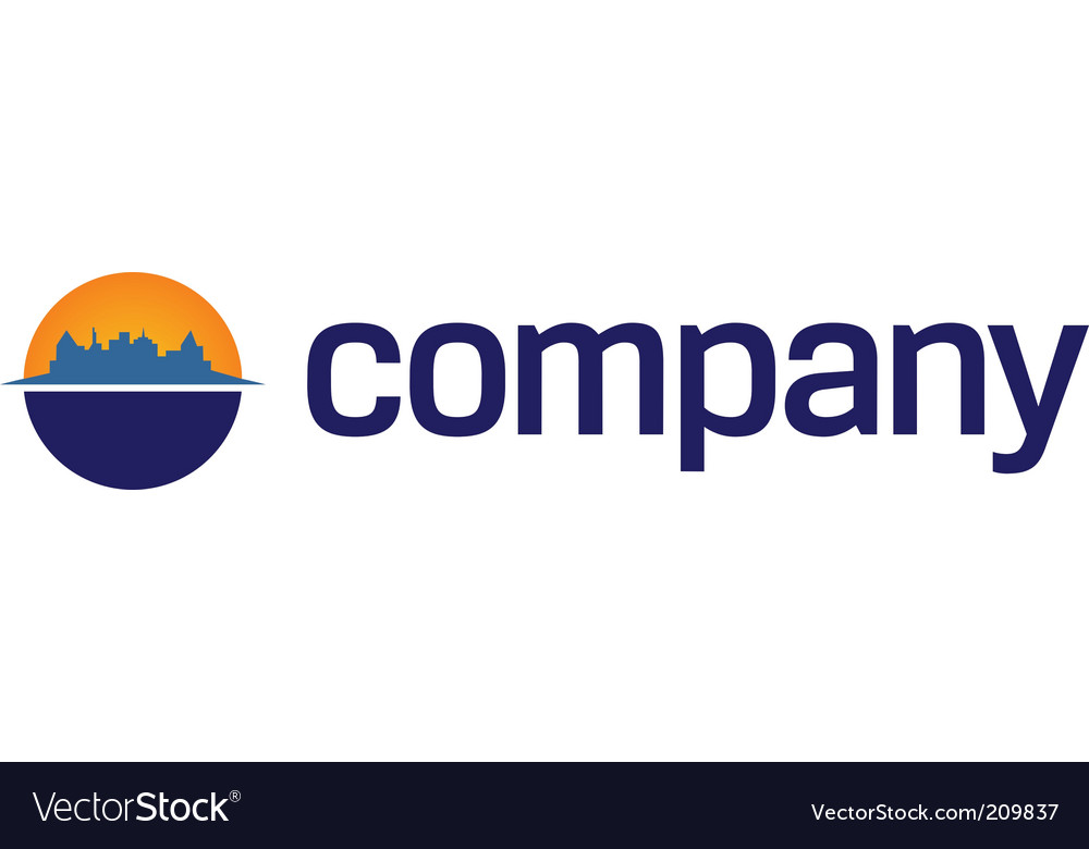Business centre logo vector image