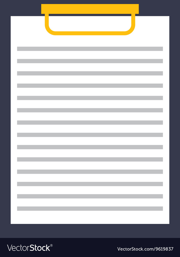 Clipboard isolated icon design