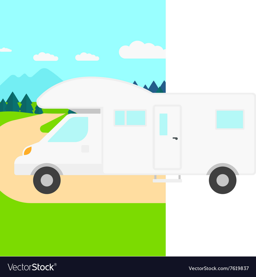 Man driving motor home