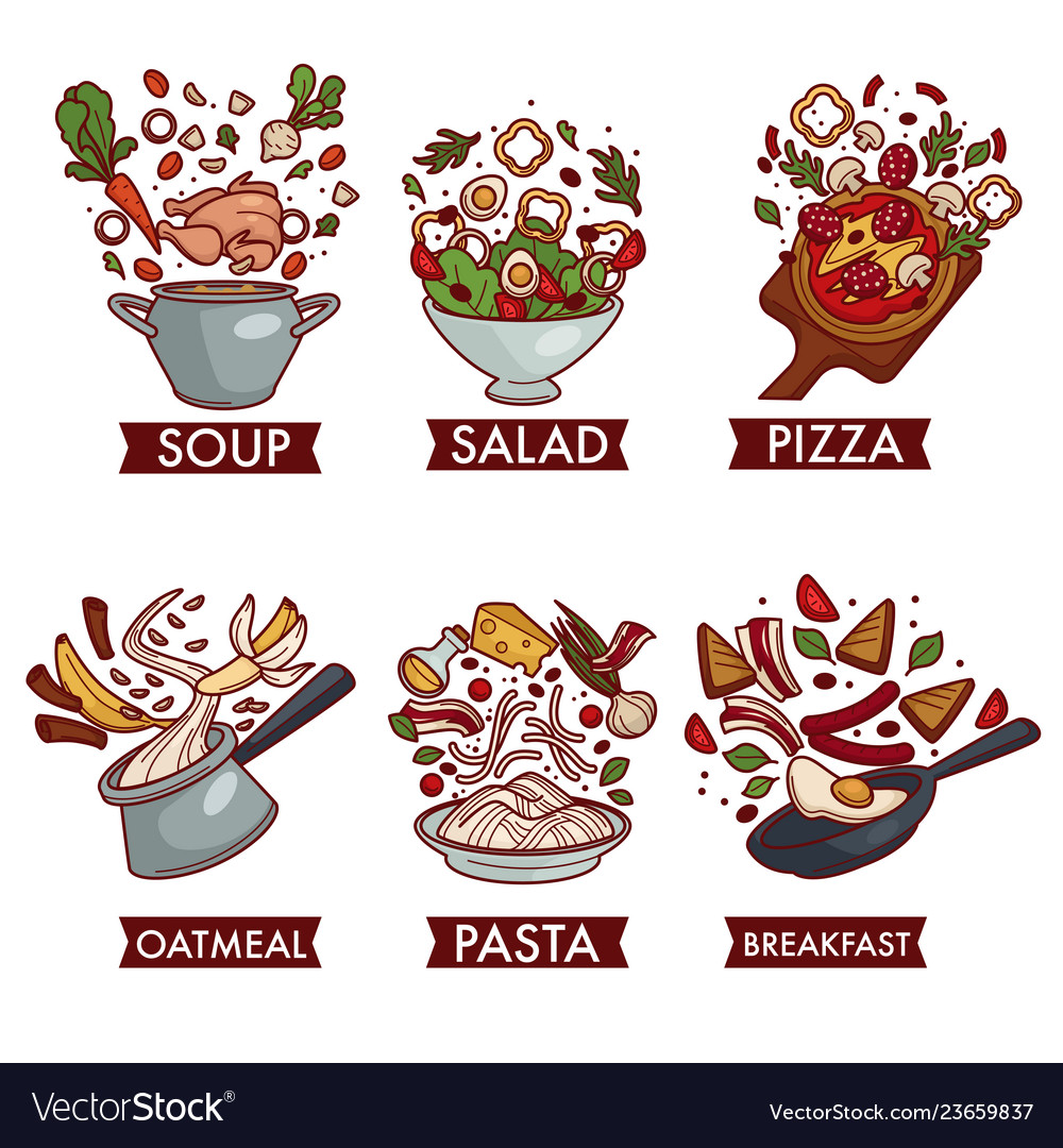 Meals or dishes food meat fruit and vegetables