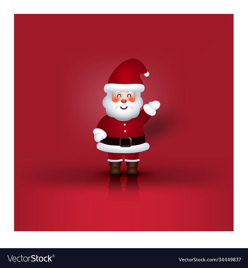 Modern holidays christmas cartoon santa claus and
