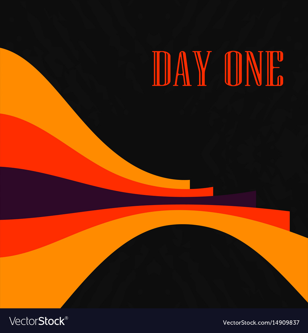 Red orange and black contrast bended lines vector image