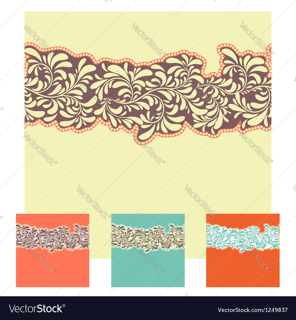 Seamless decorative element border set