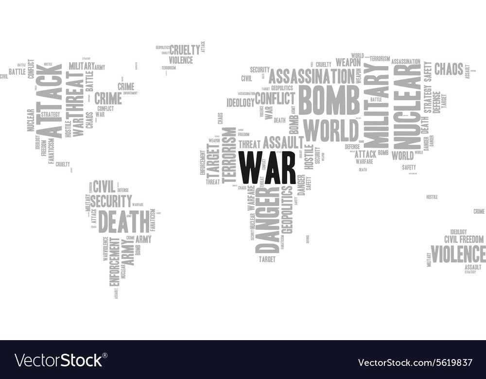War word cloud