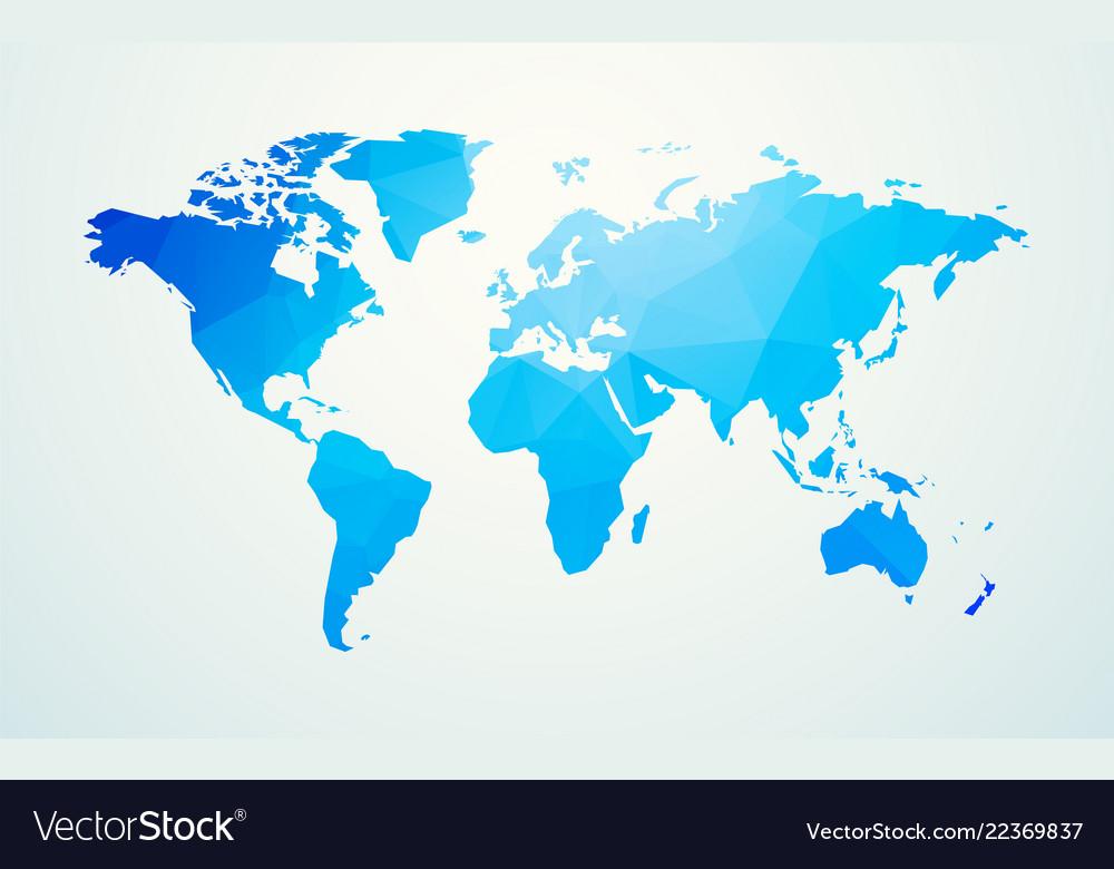World Map Blue Geometric Shape Texture Royalty Free Vector