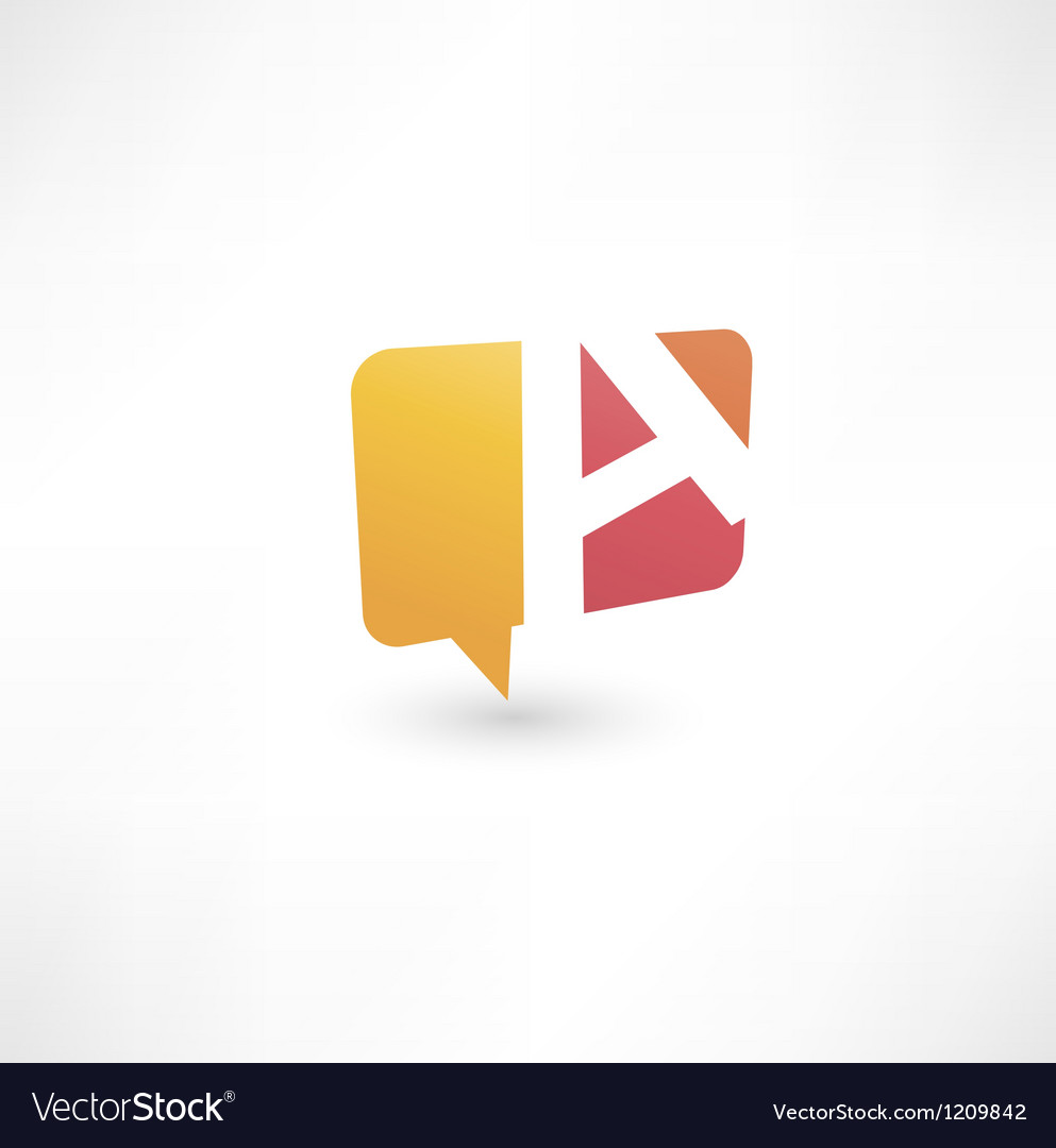 Abstract bubble icon based on the letter A vector image