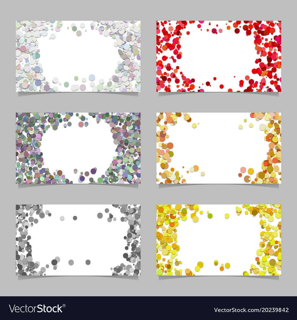 Abstract business card background set with