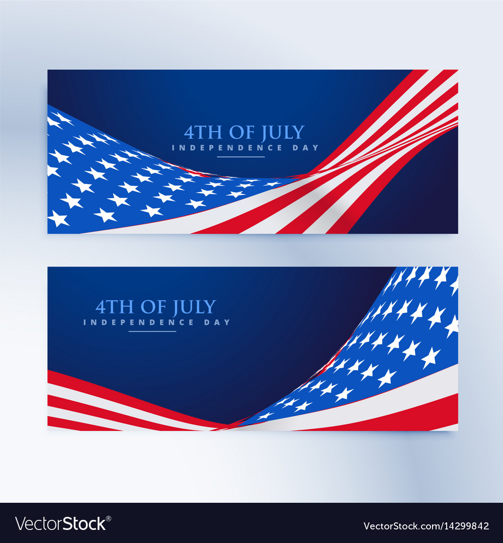 American flag 4th july banners