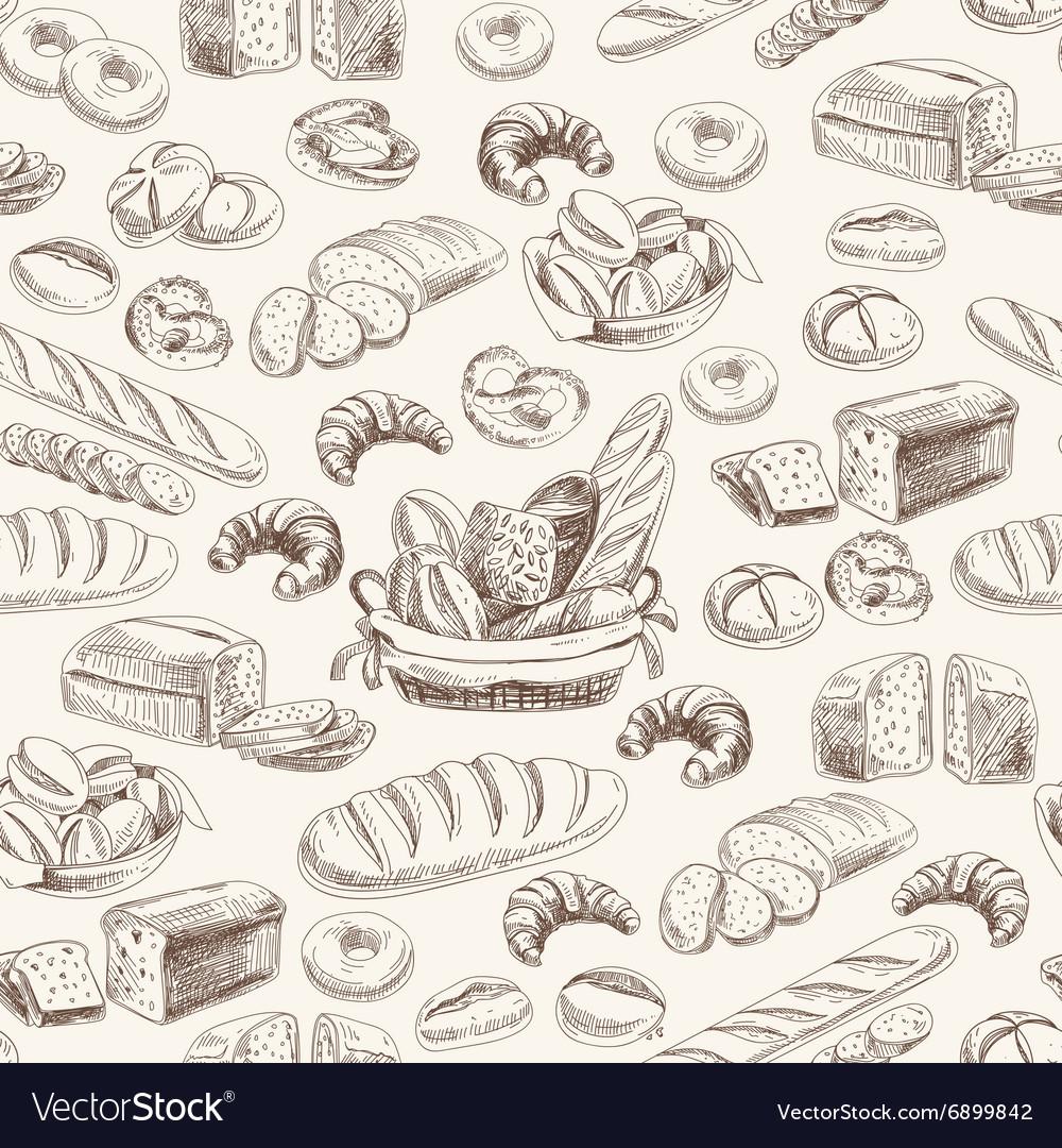 Bakery retro seamlrss pattern