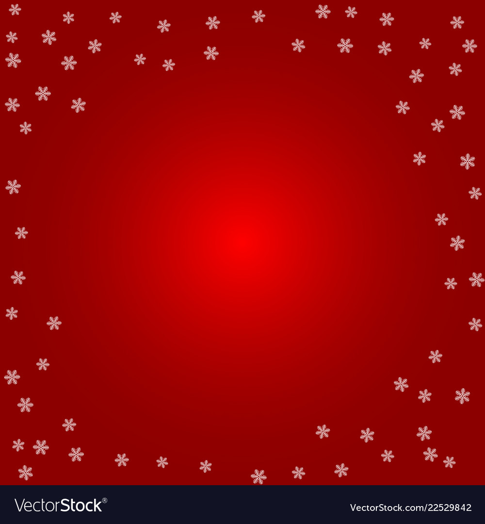 Christmas background white snowflakes on a red