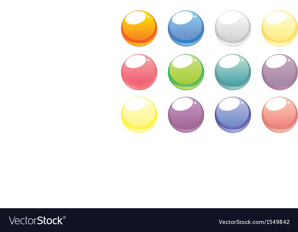 Colorful web buttons set isolated on white