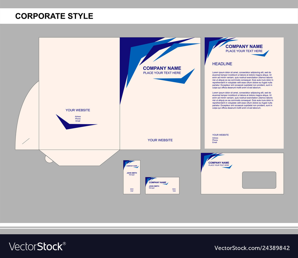 Corporate style business brand