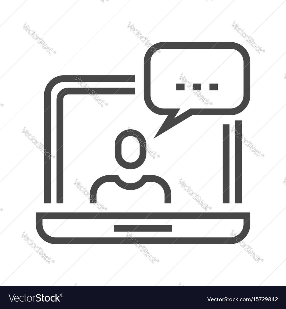Customer service thin line icon