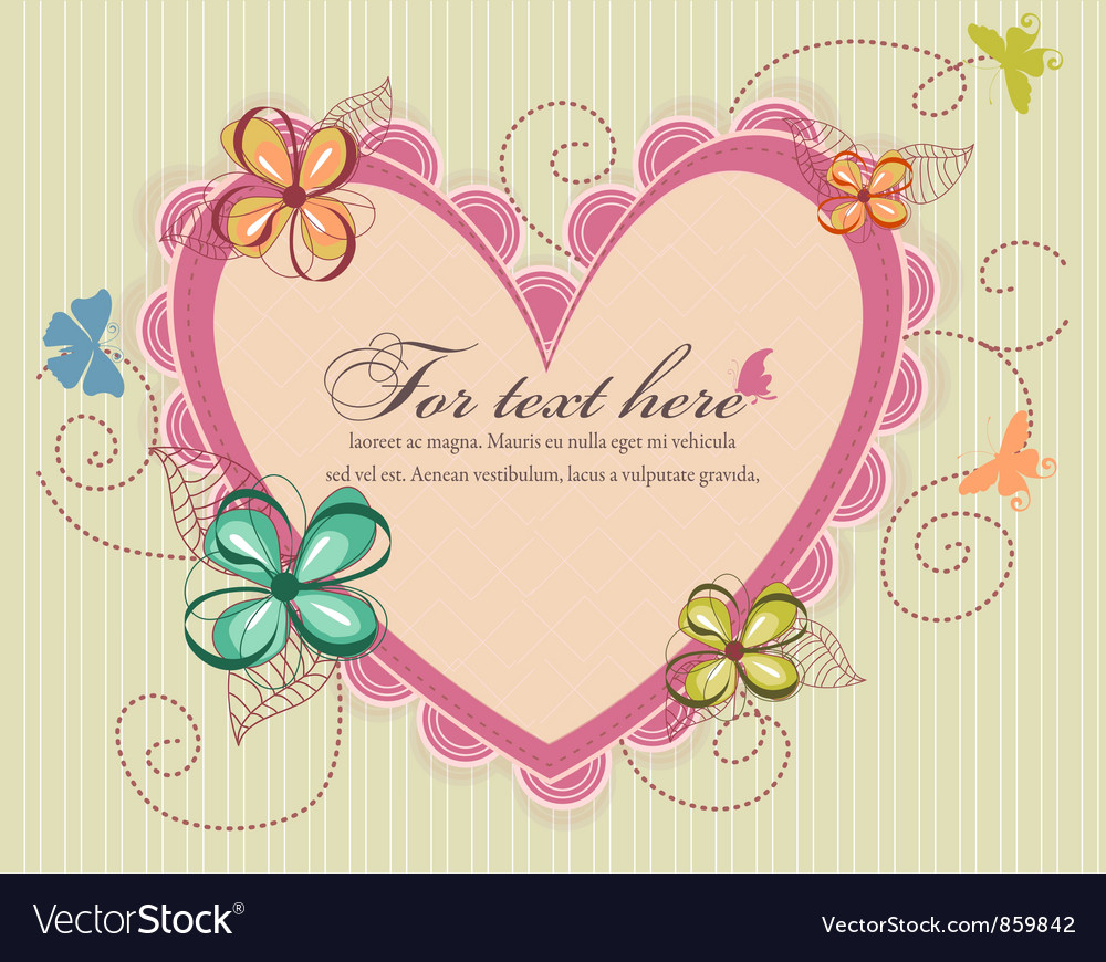 Heart with floral