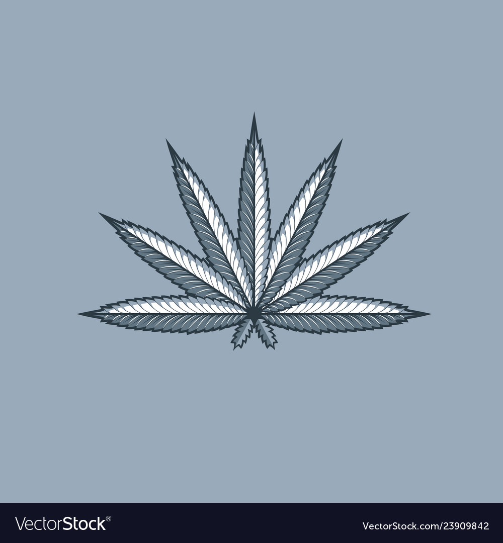 Marijuana leaf cannabis weed monochrome tattoo