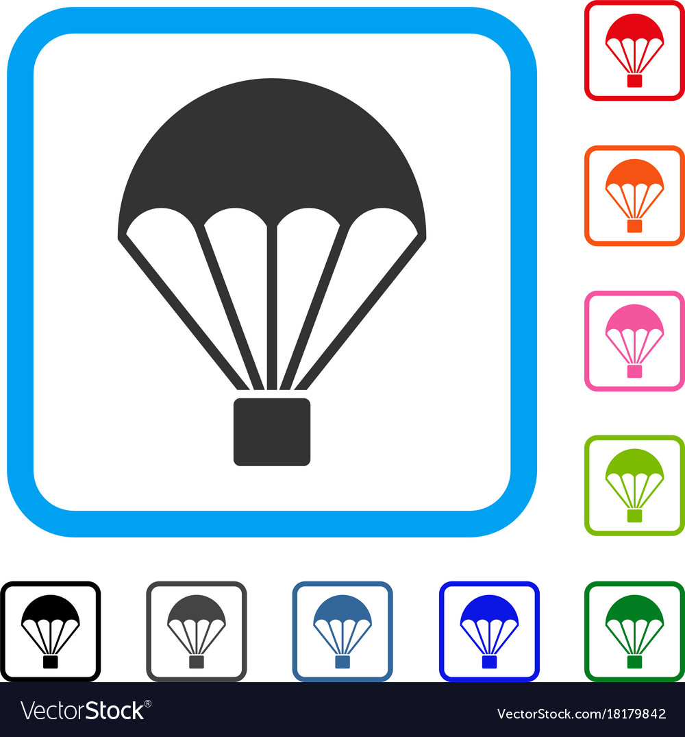 Parachute framed icon