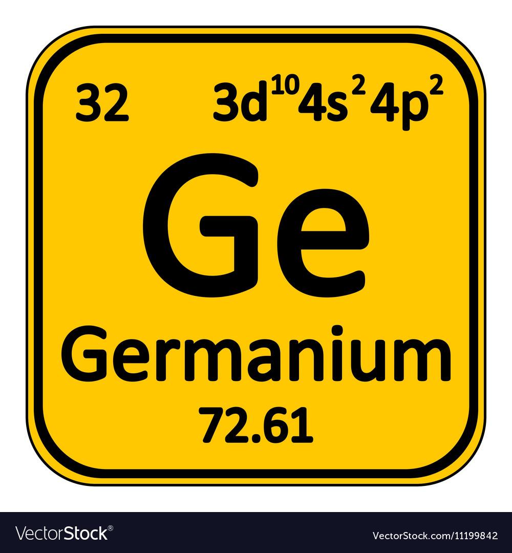Periodic table element germanium icon