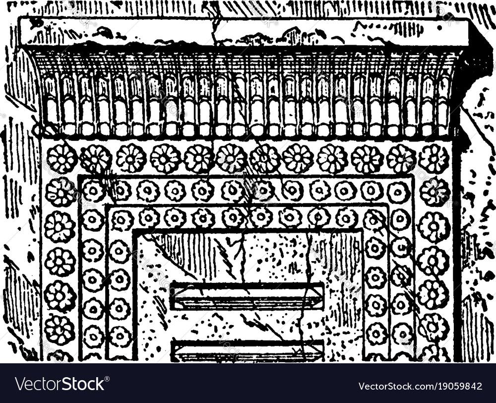 Persian architecture are architrave and cornice