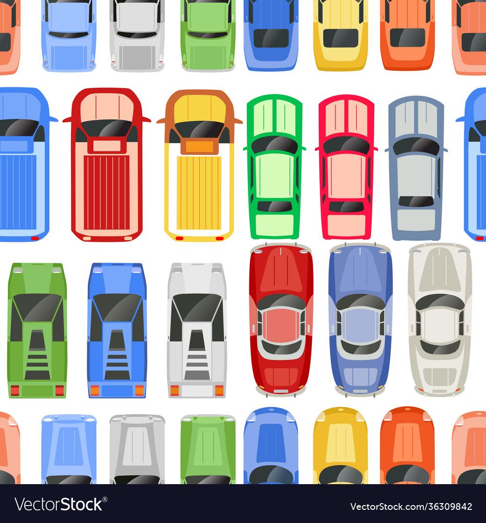 Retro cars seamless pattern retro auto design