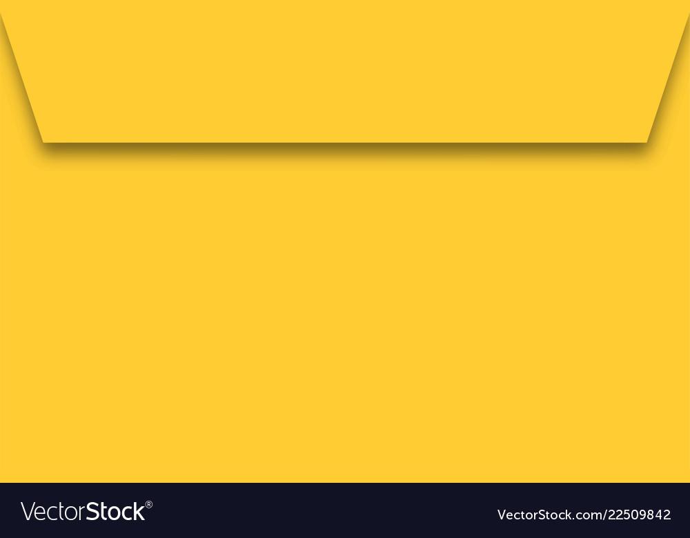 Yellow paper envelope