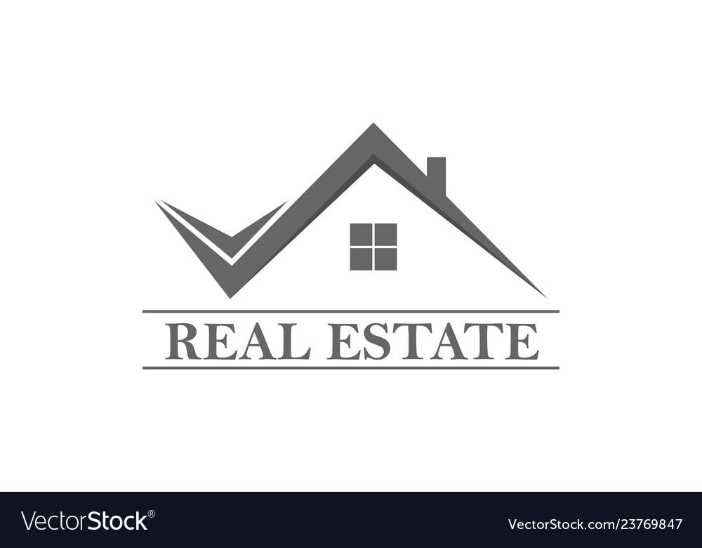 Home Real Estate Logo Royalty Free Vector Image