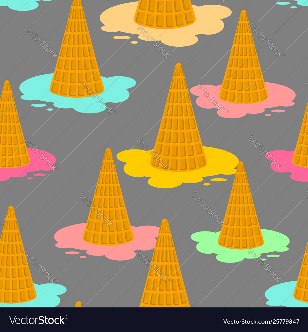Ice cream dropped pattern milk dessert lying on