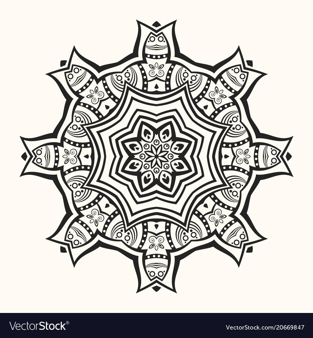 Mandala decorative round ornament vector image
