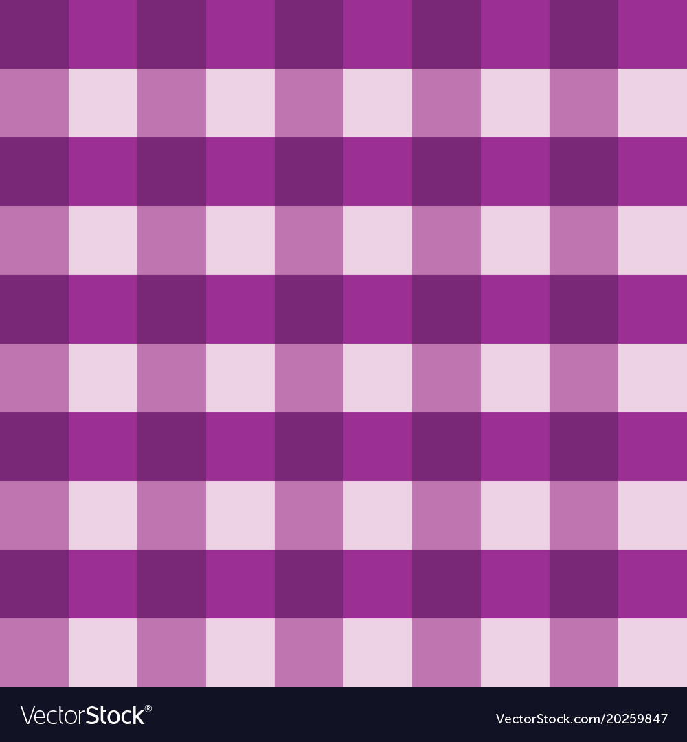 Purple Gingham Tablecloth Seamless Vector Image