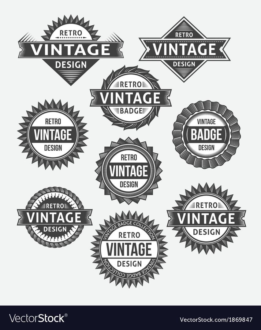 Set of retro vintage badge and label design set