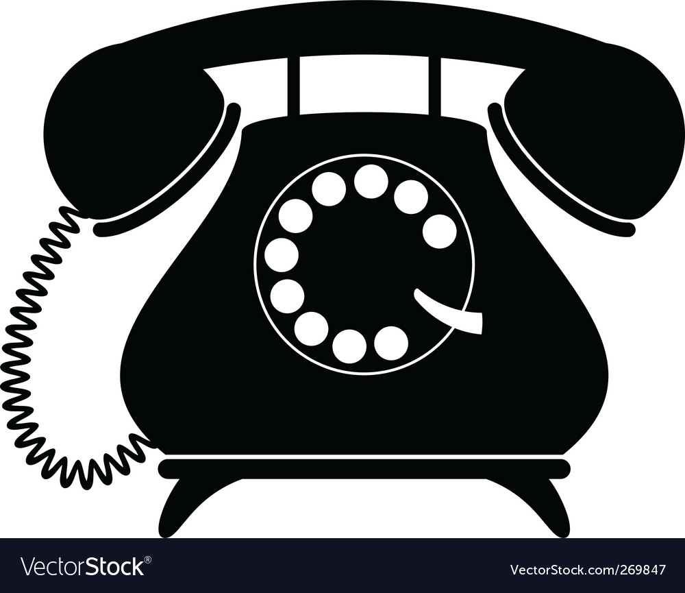 telephone royalty free vector image vectorstock rh vectorstock com telephone vector eps telephone vector eps